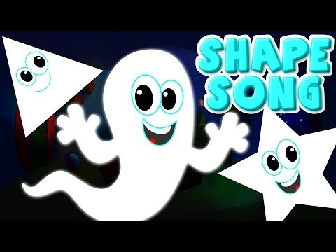 the shapes song | ghost shapes | halloween song | scary rhymes | nursery rhyme | kids songs - YouTube