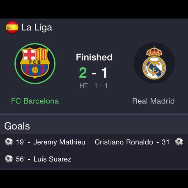 2 1 Barcelona Vs Madrid Barcelona Barcavsrealmadrid Barcelonawins Vs Madrid Realmadrid Real Madrid Goal Real Madrid Luis Suarez