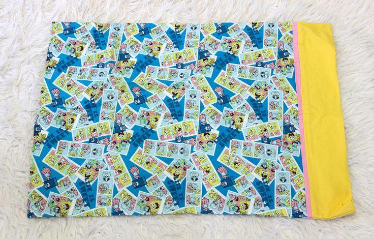 https://www.etsy.com/listing/526295050/nickelodeon-spongebob-pillowcase this is so fun!