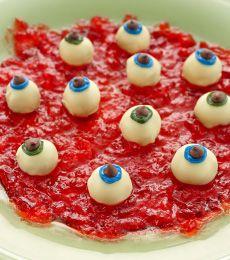 White Chocolate Eyeballs In Blood Clot Jelly - Gruesome