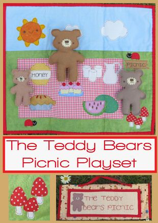 The+Teddy+Bears+Picnic+Set+-+by+Two+Brown+Birds-+Softie+PatternSECONDARY_SECTION%2416.50%3A+Fabric+Patch%3A+Patchwork+Quilting+fabrics%2C+Moda+fabric%2C+Quilt+Supplies%2C%A0Patterns