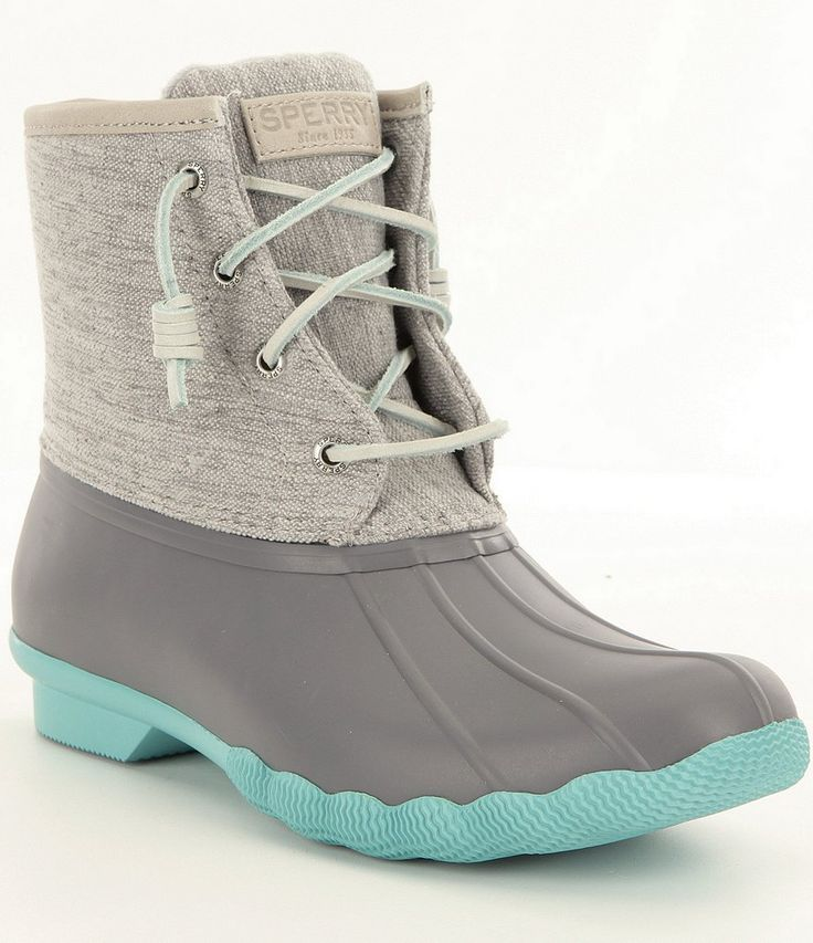 Sperry Saltwater Pop-Outsole Waterproof Cold-Weather Duck Boots - Size 7