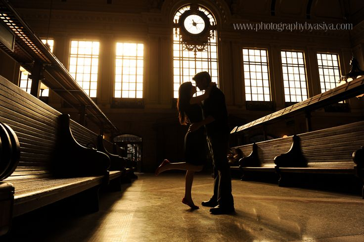 Hoboken-Train-Station-Engagement-Photo-Shoot