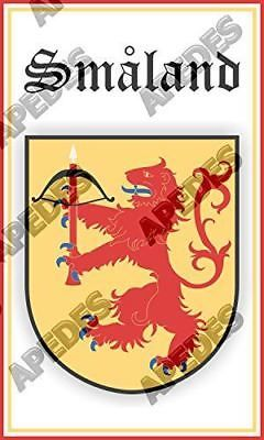 Smaland Sweden Coat Of Arms Computer Car Decal Sticker 3x5 inches