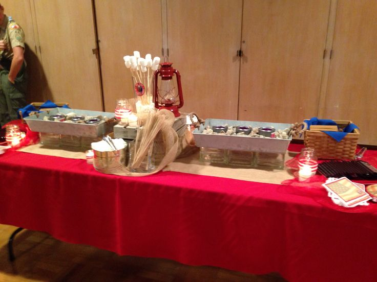 Eagle Scout Court of Honor - S'mores Bar