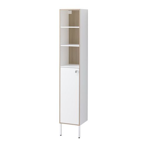 "TYNGEN High cabinet IKEA Suitable for a smaller bathroom, as the cabinet frame is just 11 7/8"" wide."