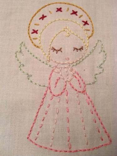sweet embroidery angel