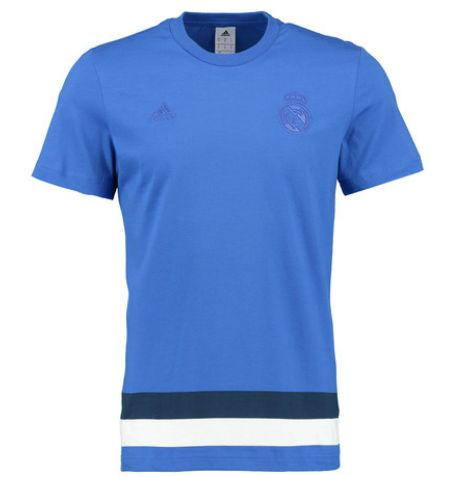 Real Madrid Anthem T-Shirt - Royal Blue Real Madrid Official Merchandise Available at www.itsmatchday.com