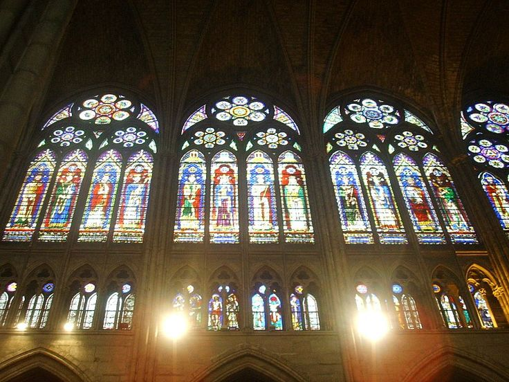 The glazed triforium of St Denis is a notable feature of Rayonnant Gothic