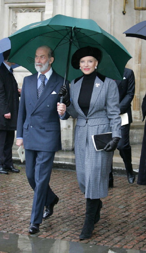 Prince and Princess Michael of Kent attends Service of Thanksgiving for the life and work of The Right Honourable Sir Angus Ogilvy in 2005's