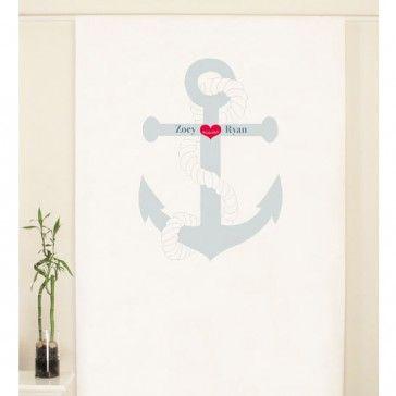 Nautical Personalized Photo Backdrop #nauticalwedding #anchorwedding #photoboothbackdrop #photobooth #weddingreception  www.MarilynsKeepsakes.com