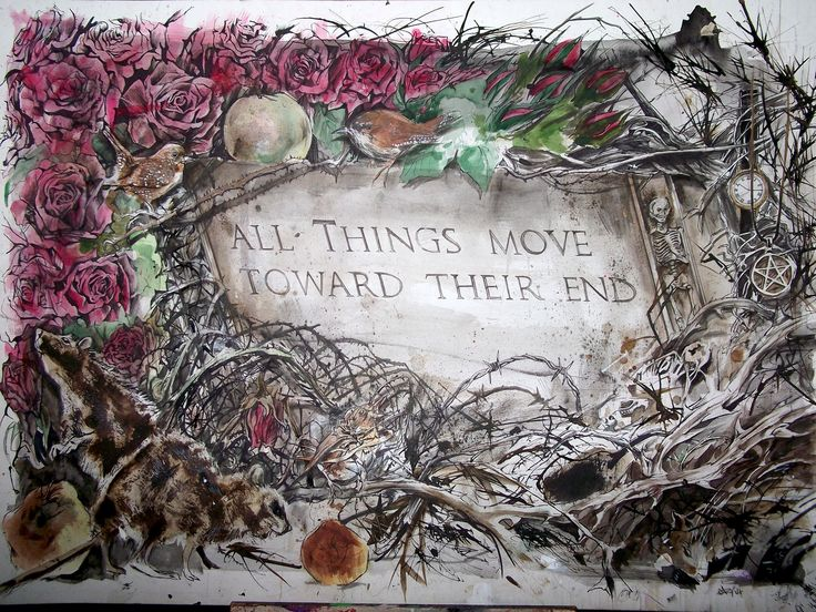 All Things Move Toward Their End  Nick Cave inspired A3 sized print by GaryAlfordArt on Etsy