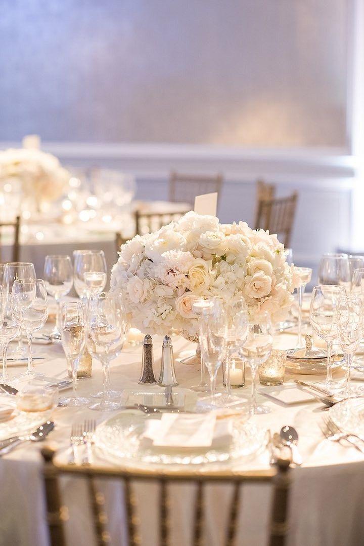 white wedding centerpiece idea; photo: Vero Suh Photography
