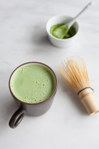 A simple and delicious recipe for a Vanilla Coconut Matcha Latte, the perfect mid-morning pick-me-up.
