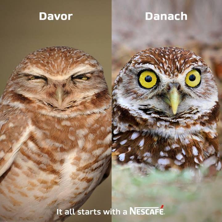 Montag Morgen. Vor und nach dem #Kaffee! #NESCAFE