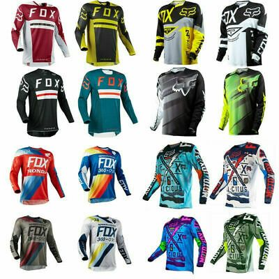 Download Fox Mens Off Road Racing Jerseys Motocross Mountain Long Sleeve Bike Clothing Bike Clothes Cycling Outfit Road Bike Clothing