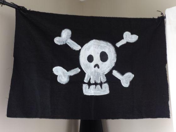 Anniversaire de pirate: drapeau