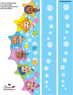 {Free} Printable Bubble Guppies Party Crown