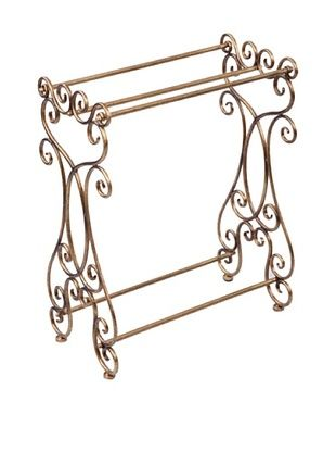 Antique Gold Towel Rack