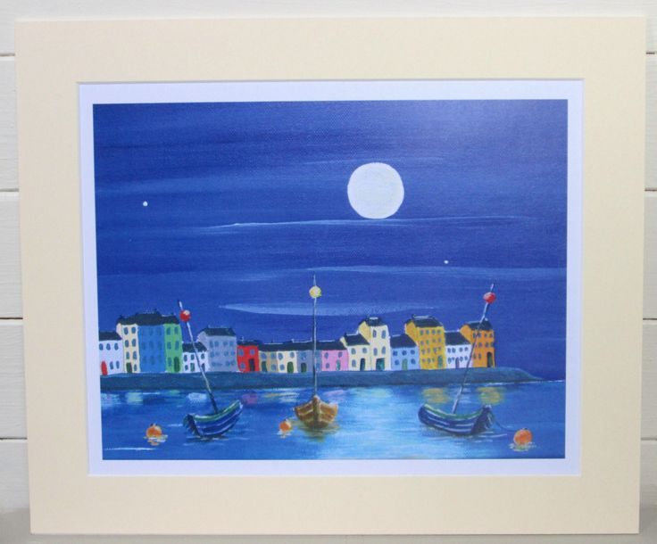 Beautiful print of Galway Claddagh by local artist!