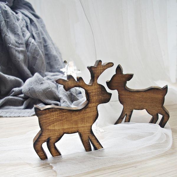 "Ozdoba świąteczna ""Renifer drewniany"" Śliczna i oryginalna ozdoba:)  http://bogatewnetrza.pl/pl/p/Ozdoba-swiateczna-renifer-z-drewna/409"