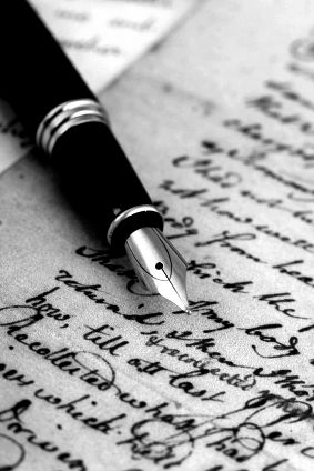 Exquisite - writing anything with a fountain pen.