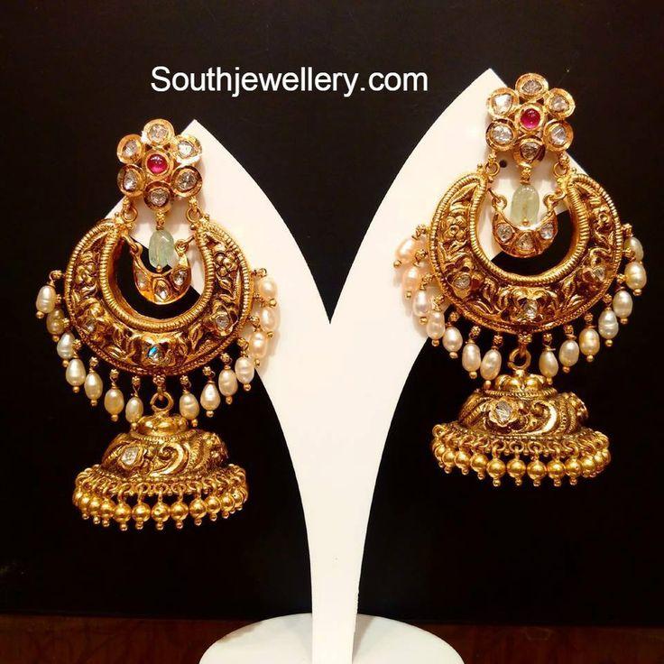 Chandbali Style Nakshi Jhumkas
