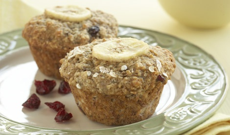 Cranberry Banana Oat Muffins  Huge hit!
