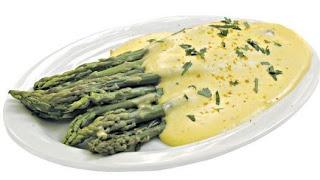 Cocina Dietetica, Diabeticos, Esparragos con Salsa Dorada