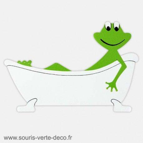 Plaque de porte de salle de bains humoristique Grenouille personnalisable http://www.souris-verte-deco.fr/Boutique/plaques-portes-salles-bains-humoristiques-personnalisables/48-plaque-de-porte-salle-de-bains-grenouille.html