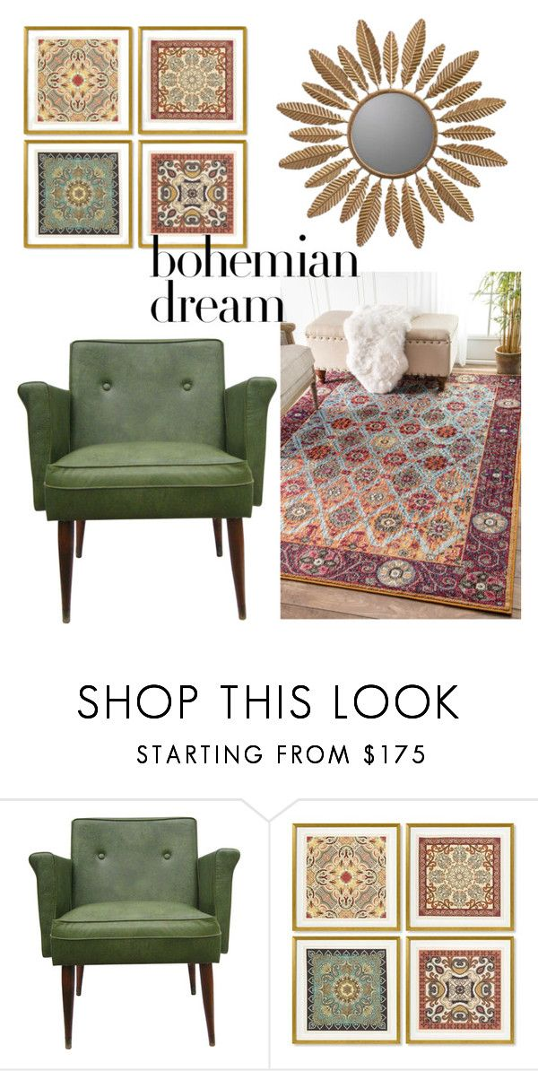 """bohemian decor"" by christy-vnk on Polyvore featuring interior, interiors, interior design, home, home decor, interior decorating, nuLOOM, Williams-Sonoma, Cooper Classics and moroccandecor"