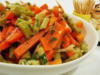 Salada de Vagem com Cenoura (vegana)