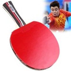 Two Sides Rubber Face Table Tennis Racket Ping Pong Bat Paddle with Wooden Handle for Table Tennis Lovers Sports-Large