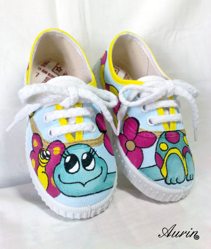 Zapatillas para niñ@, nº24, pintada a mano