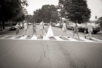 Beatles themed wedding photos... An absolute if I end up getting hitched one day