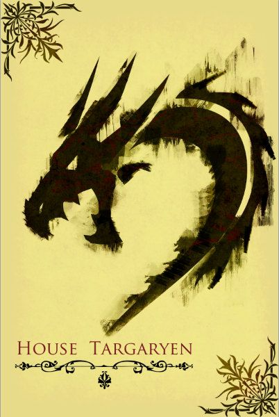 Game of Thrones retro poster minimalist art movie poster print art poster print 11x17 House Targaryen. $19.00, via Etsy.