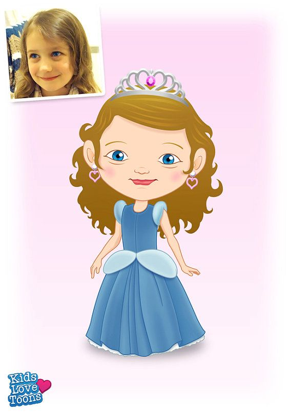 A custom made cartoon portrait of Lilla. She is a little princess and it was a pleasure drawing her :)