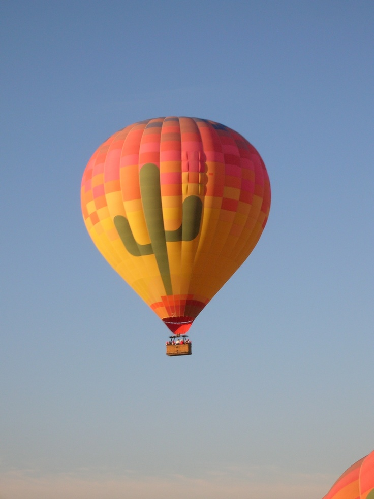 I'd always wanted to go up in a hot air balloon and finally got the chance to do it in Phoenix, AZ with my BFF. It's hot up in the balloon, even though it was cold that morning, but it's also a great big blast.