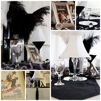 1940s party - i like the framed movie posters                              …