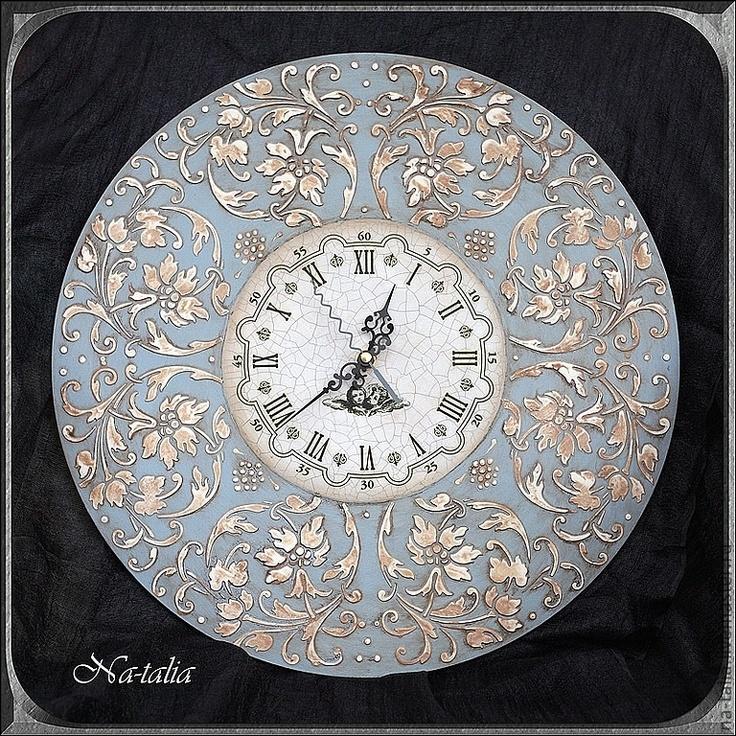 Часы для дома ручной работы. Ярмарка Мастеров - ручная работа Часы Ангельские (продано). Handmade.