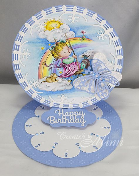 using  Lil' Girl Swinging by Art House Designs available from Sweet Pea Stamps