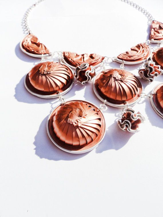 2in1 Nespresso coffee capsules necklace, Nespresso Rose gold coffee capsules collar
