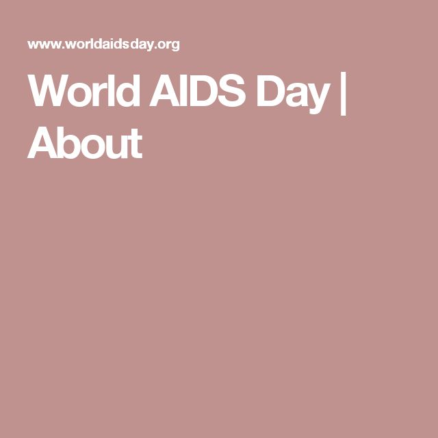 World AIDS Day | About