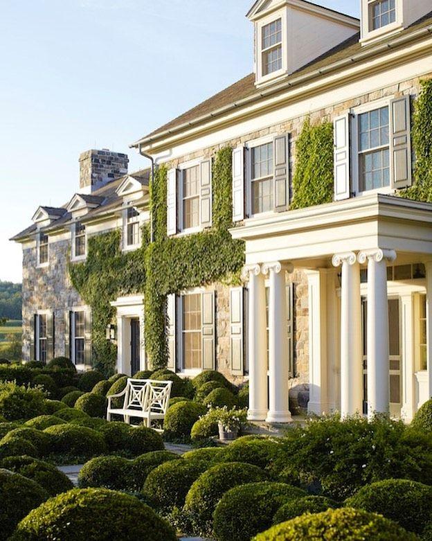 Apenas adorável. . . . . # casa # casa # casa # pedra # jardim # verde   – homedesign