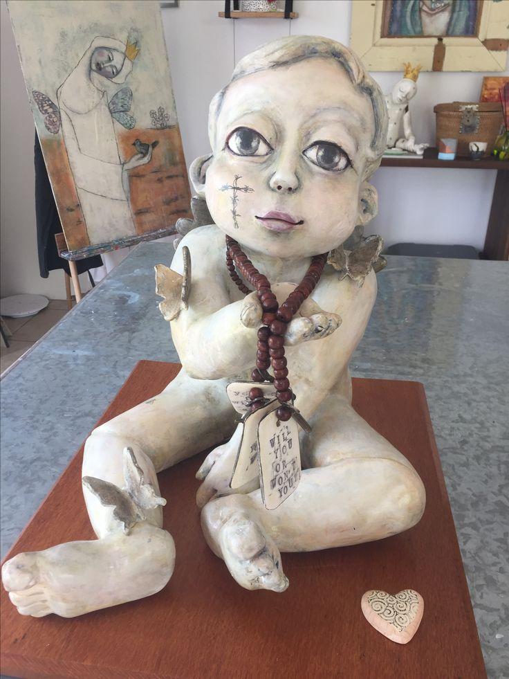 I.Am.Will stoneware paper clay found objects mixed media