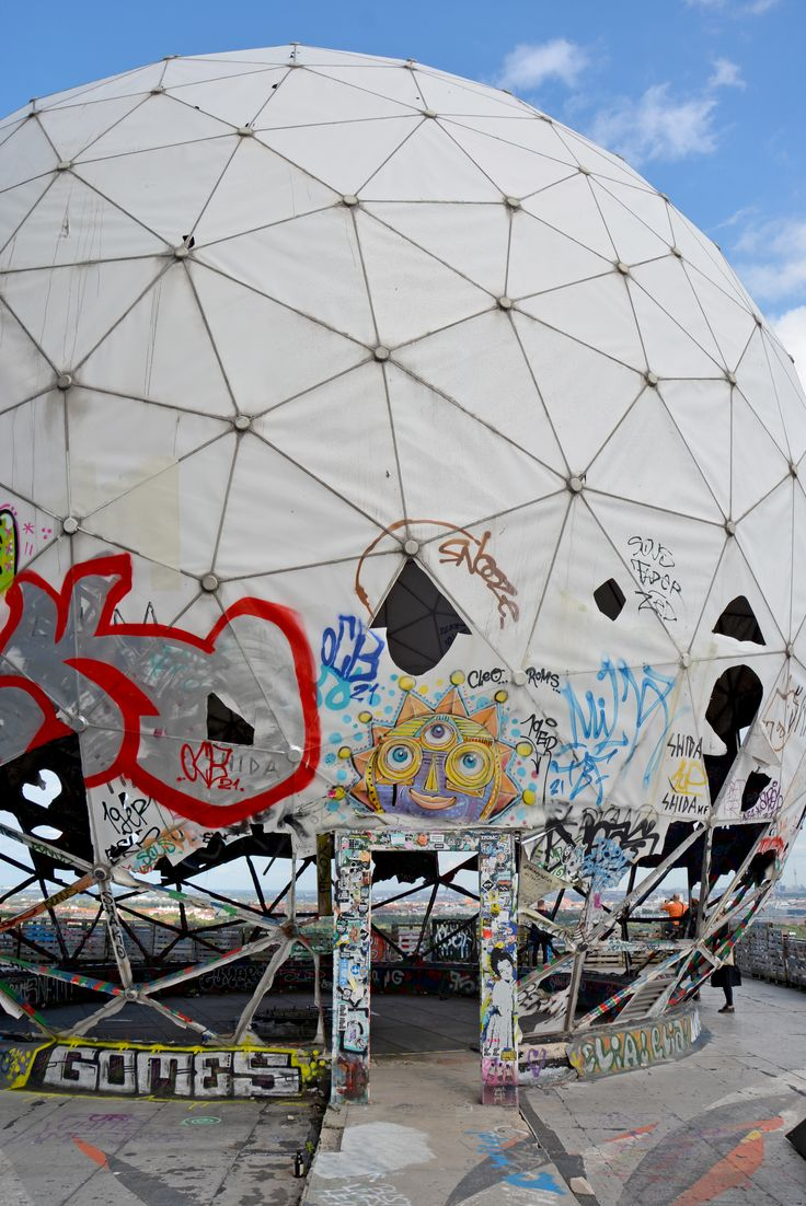 An abandoned NSA spy base built on a Nazi military college. Teufelsberg is full of secrets, epic street art and rich history.