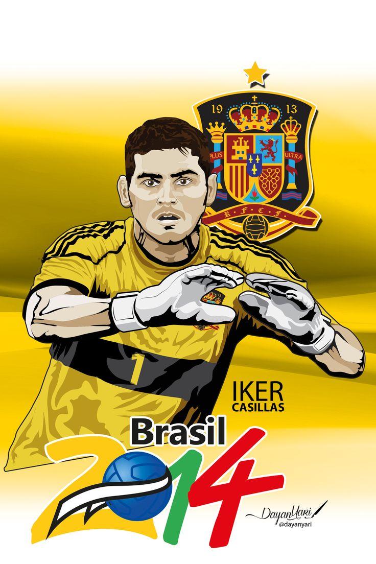 #iker #brasil2014 #españa #ilustracion #illustration