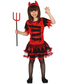 Kostium diablica zombie dla dziewczynki