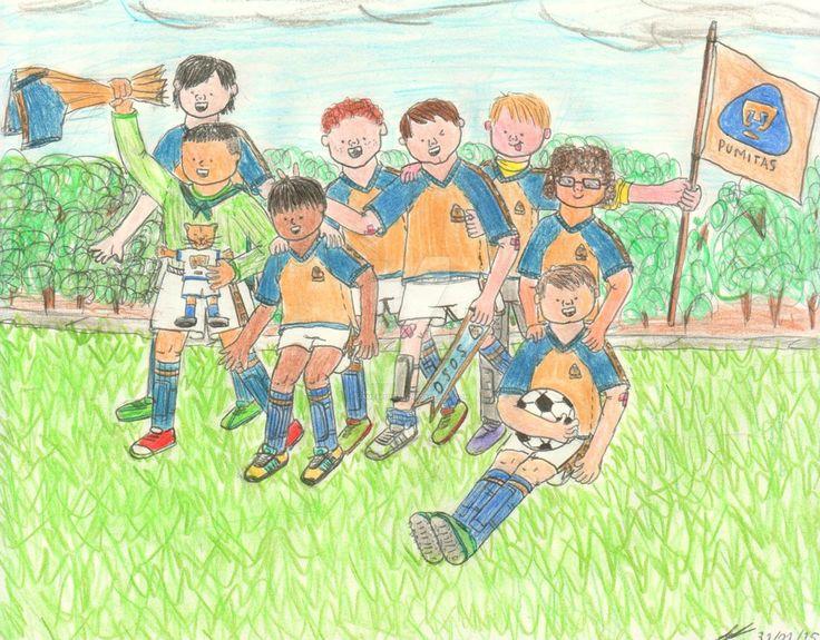 The photo of the team #pumasunam #childhood #soccer