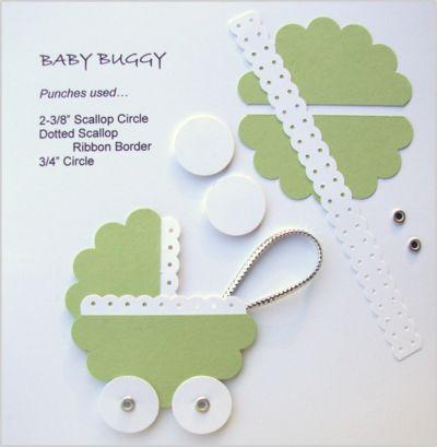 Como fazer carrinho de bebê de scrap